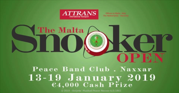 The Malta Snooker Open Competition -   5-19 ta